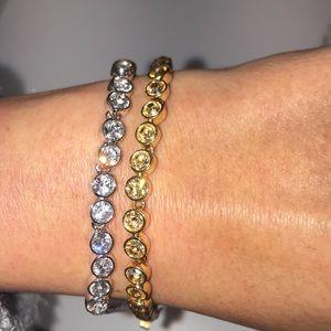Set of two Swarovski crystal bracelets